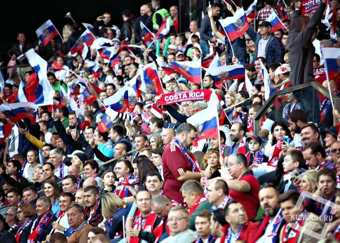 Фотоотчет: шквал эмоций на матче сборных России и Коста-Рики